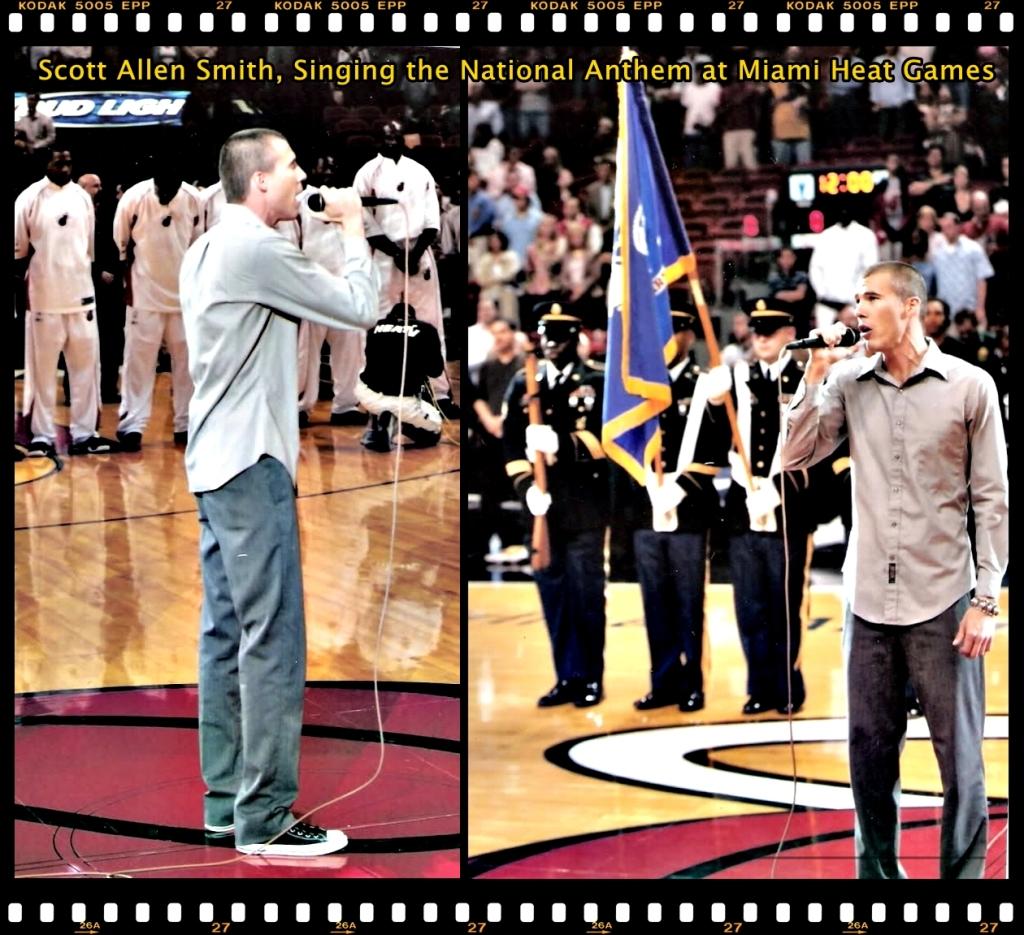 Scott Allen Smith - Miami Heat Playoff Game Singing National Anthem